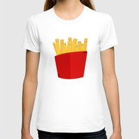 fries T-shirts featuring FRENCH FRIES by cfortyone