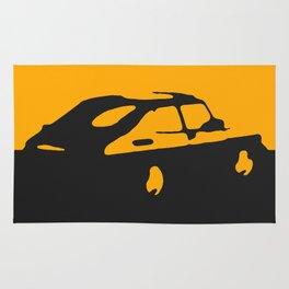 Saab 900 classic, Yellow on Black Rug
