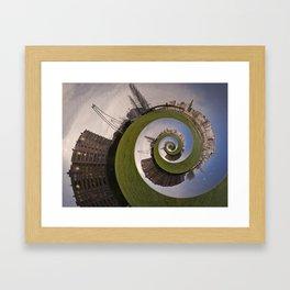 Lleida en caracol Framed Art Print
