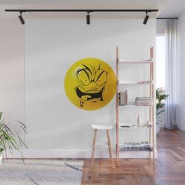 Crazy Furious Smiley Wall Mural