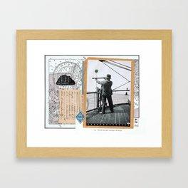 Papa • – – • Framed Art Print