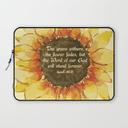 The Word of our God will stand forever Laptop Sleeve