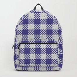 Dark Slate Blue Buffalo Plaid Backpack