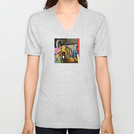 Circus Juice (oil on canvas) Unisex V-Neck