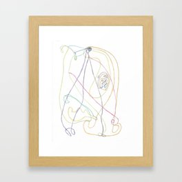Drawing #27 Framed Art Print