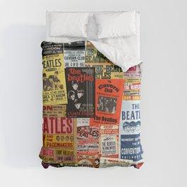 Vintage Rock Concert Posters Comforters