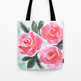Farmhouse and Shabby Chic Rose Bouquet Chintz Rose Florals American Country English Tote Bag