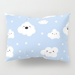 Blue Clouds Pillow Sham