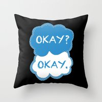 tfios Throw Pillows featuring TFIOS Dots by All Things M