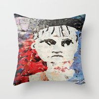 les miserables Throw Pillows featuring LES MISERABLES by JANUARY FROST