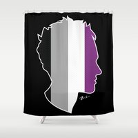 asexual Shower Curtains featuring Asexual Love by Winter Graphics