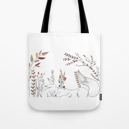 Rabbit and fox Tote Bag