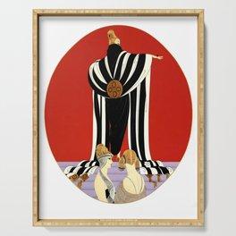 "Art Deco Illustration ""Monaco Fashion"" Serving Tray"
