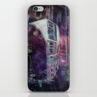 volkswagon iPhone & iPod Skins featuring Night time Camper by yairi