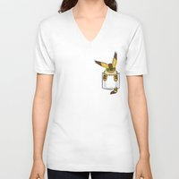 nausicaa V-neck T-shirts featuring Pocket Teto (Fox Squirrel) by Li.Ro.Vi