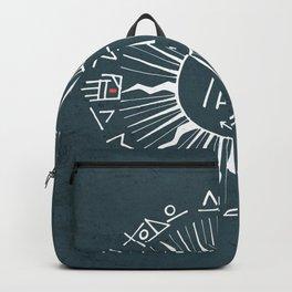 Religious christian jesuit symbol illustration Backpack