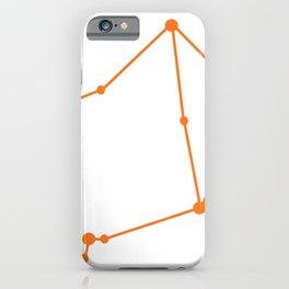 Libra (Orange & White) iPhone Case