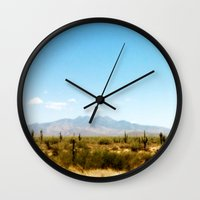 southwest Wall Clocks featuring Painterly Southwest by Mister Groom