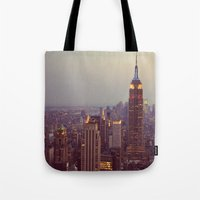 nyc Tote Bags featuring NYC by Jessica McCourt
