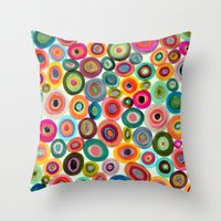 Throw Pillows featuring Inside out by sylvie demers
