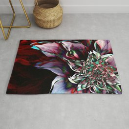 Watercolor Flower Abstract Rug