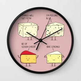cheesy puns Wall Clock