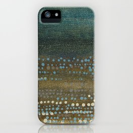 Landscape Dots - Night iPhone Case
