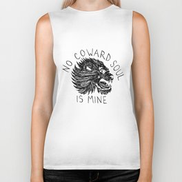 No Coward Soul is Mine Biker Tank