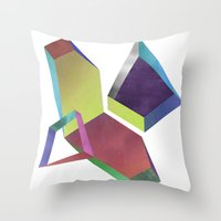 saturn Throw Pillows featuring saturn by sofia de eça