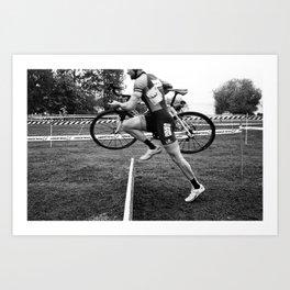 Cyclocross: Barrier Art Print