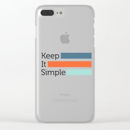 Simple Life Clear iPhone Case