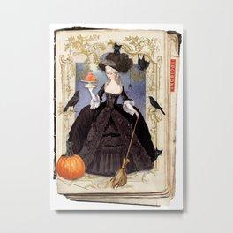 Halloween Witch Pumpkin Macarons Metal Print