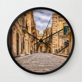 Italy Photography - Charming Street In Italy Wall Clock