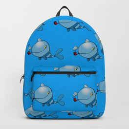 Whale with a pipe Backpack