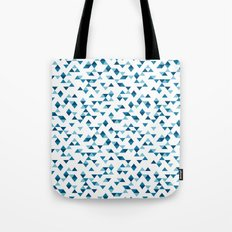 Triangles Blue Repeat Tote Bag