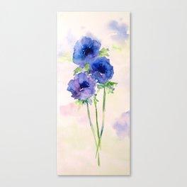 Vernal blue Canvas Print