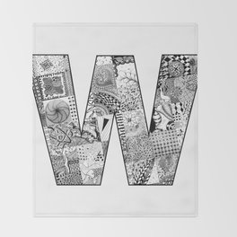 Cutout Letter W Throw Blanket