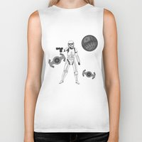 storm trooper Biker Tanks featuring storm trooper by Agentsassy