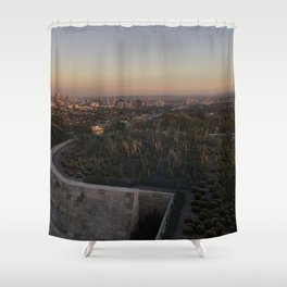 view from the getty Shower Curtain