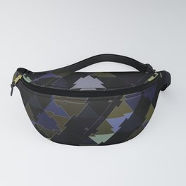 Shimmering Triangle Pattern Fanny Pack