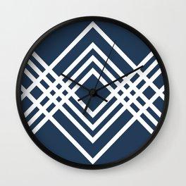 White rhombuses Wall Clock