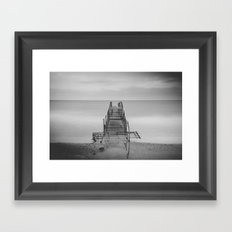 Tranquil Blues - BW Framed Art Print