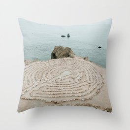 Lands End Labyrinth, San Francisco Throw Pillow