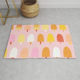 Cute, Retro Art, Pink, Orange and Yellow, Nursery Arts Rug