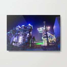 Industrial HDR photography - Steel Plant 2 Metal Print