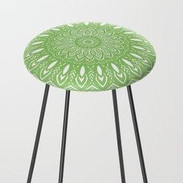 Light Lime Green Mandala Simple Minimal Minimalistic Counter Stool