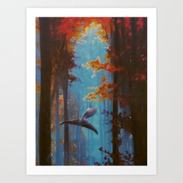 Into the Fall Art Print