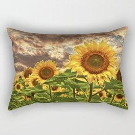 Sunflowers at Sunset Rectangular Pillow
