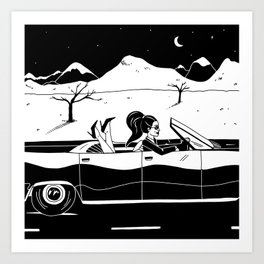 Driving in Cars with Girls Art Print