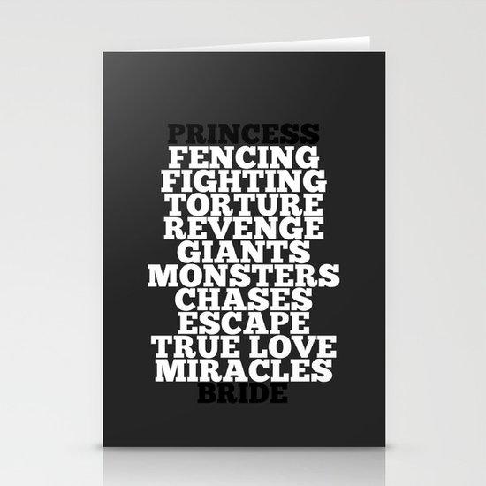 Princess Bride Stationery Cards